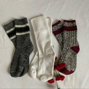 Bundle Of 3 Pairs of Women's Cotton Warm Socks